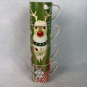 Maxwell & Williams Kris Kringle reindeer mugs